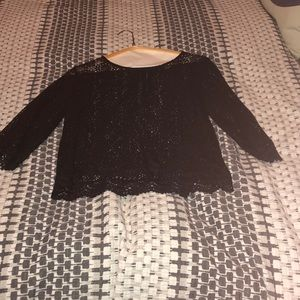 Black Lacy see through blouse